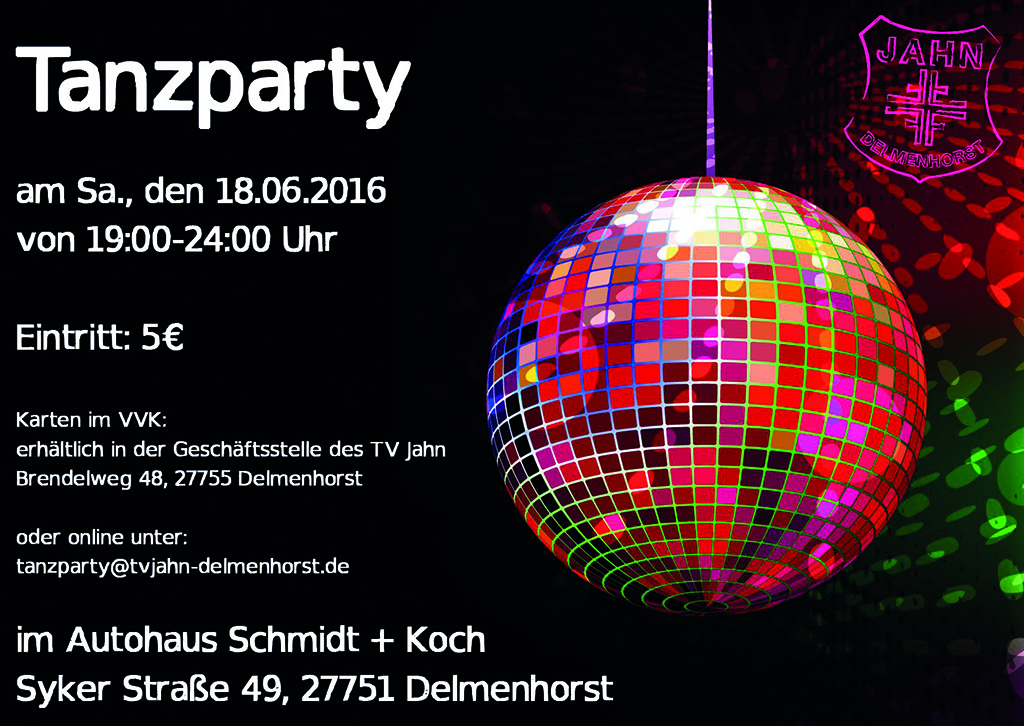 Flyer Tanzparty