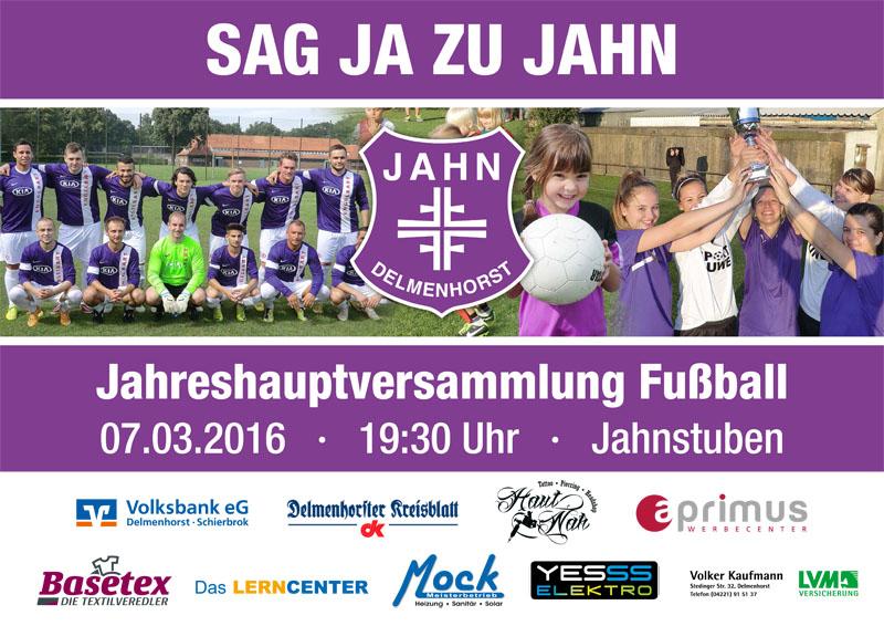 Jahreshauptversammlung Fussball 2016